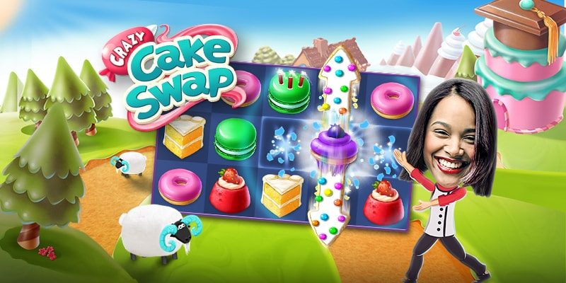 Crazy Cake Swap Game Screenshot