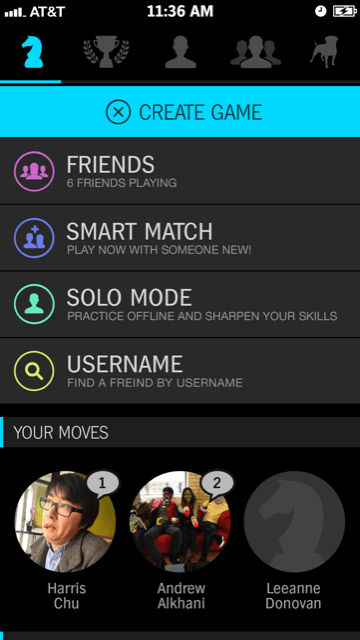 Chess with Friends Game Screenshot