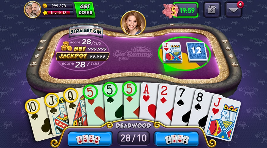 Gin Rummy Plus Game Screenshot