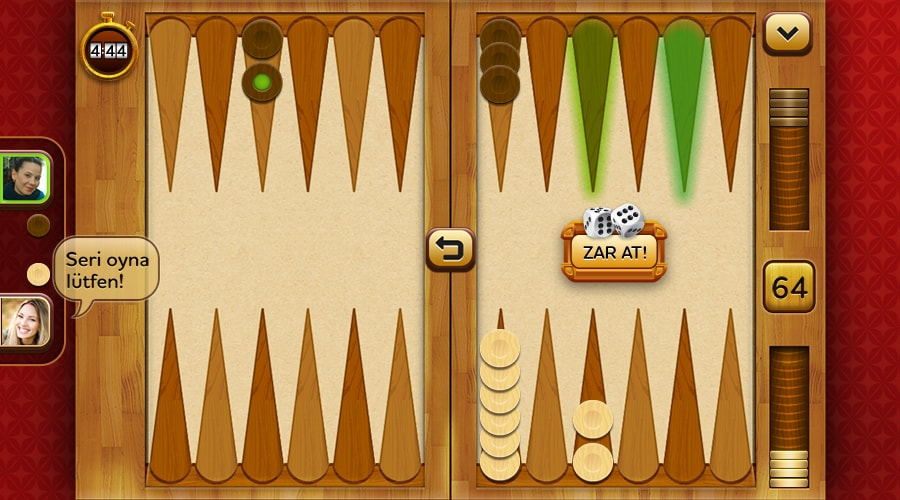 Backgammon Plus Game Screenshot