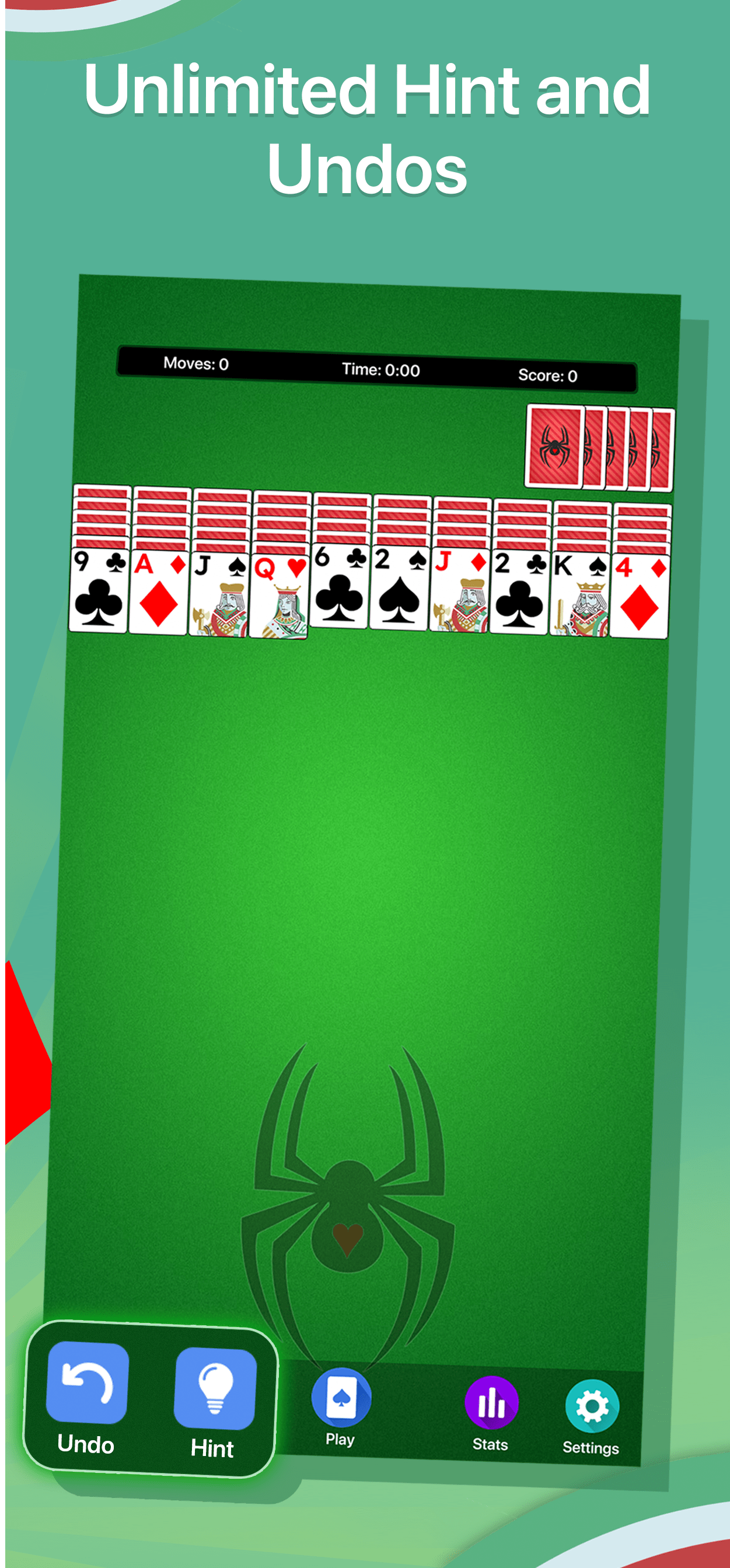 Spider Solitaire Game Screenshot