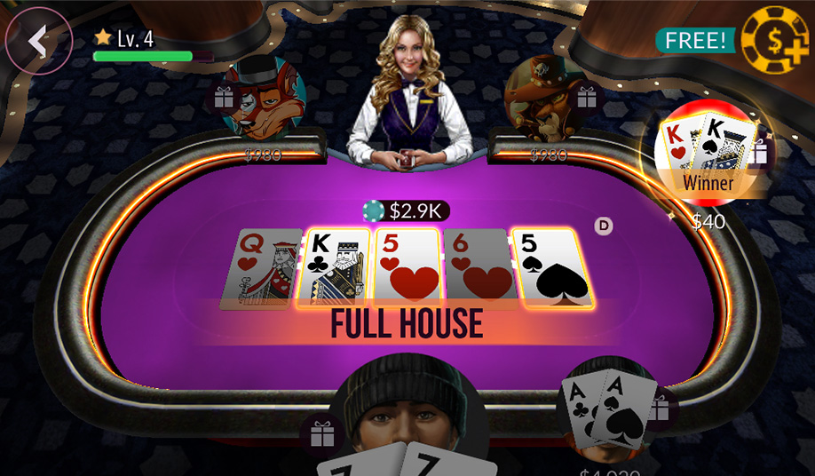 Zynga Poker Game Screenshot