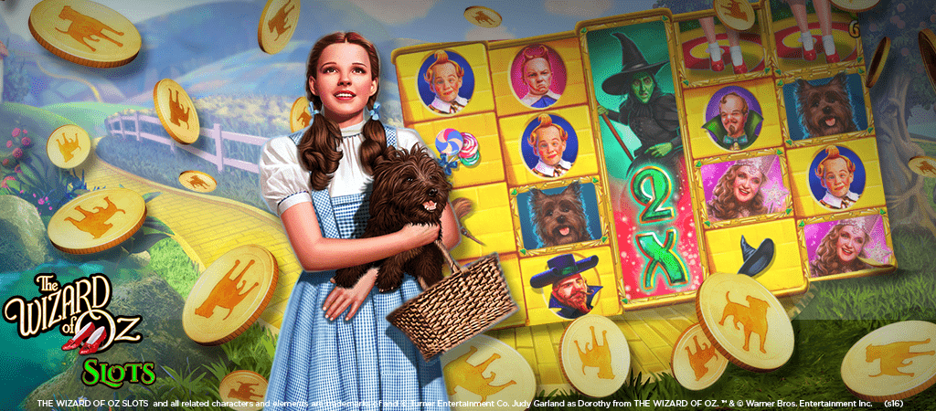 Wizard of Oz Slots Hero Image